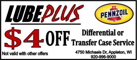 LubePlus 4 dollars off Differential or Transfer case Service
